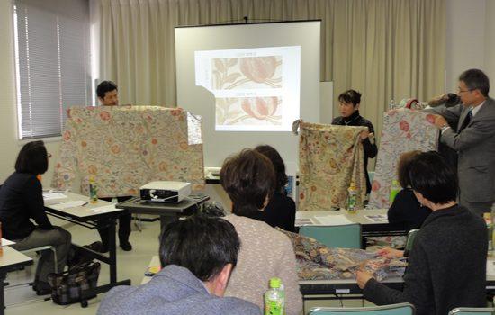 モリスデザインに触れ、織物技術に学ぶ